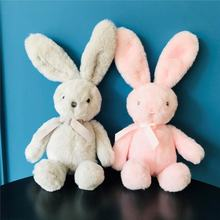 custom wholesale small cute soft grey pink stuffed rabbit toy easter bunny plush
