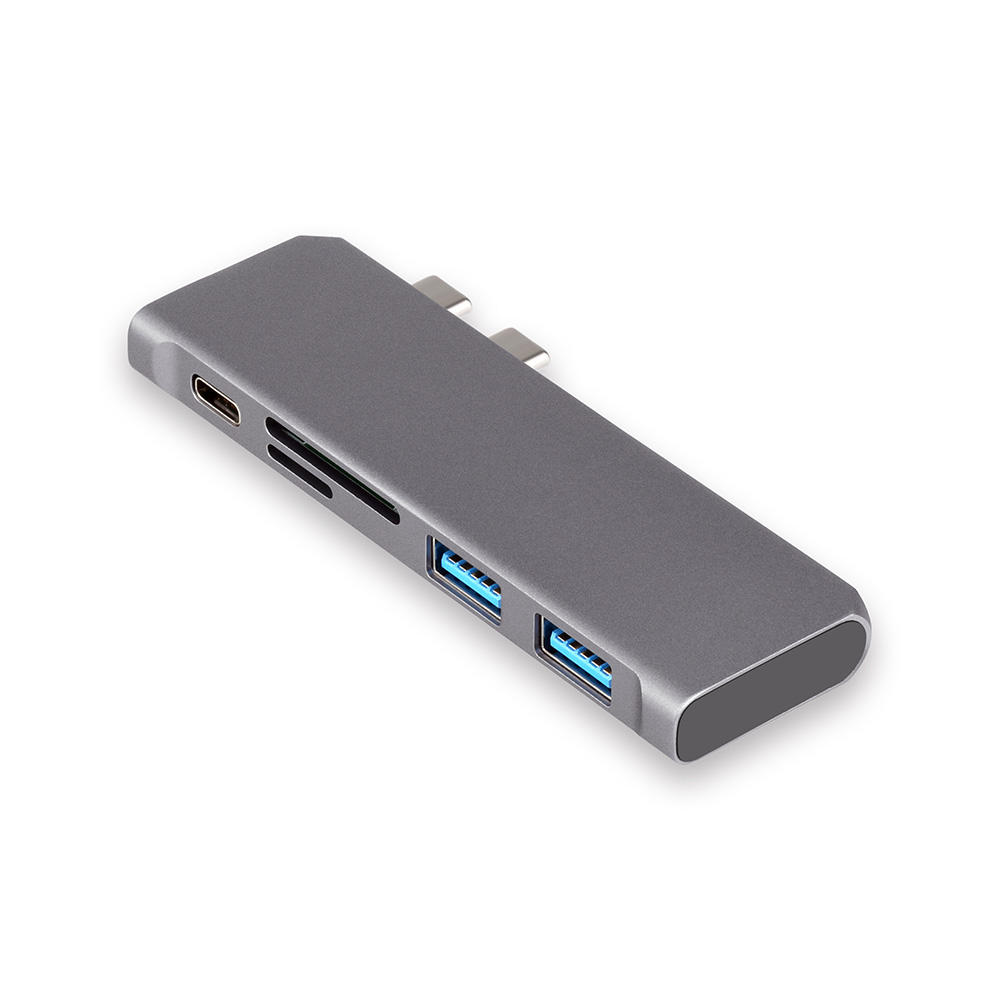 Tipo C Hub Adapter/2 porte USB 3.0/MicroCard/SD card/Tipo-C porte, 5 porte USB C HUB per Macbook