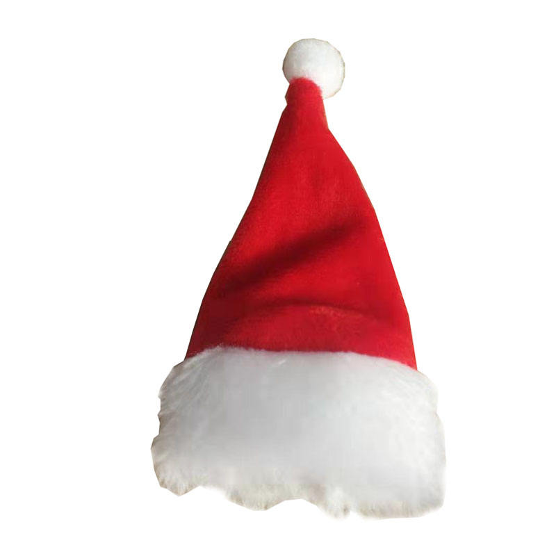 Hot Sell Cheap Plush Christmas Mini /Small Santa Hat For Wine Bottle wholesale