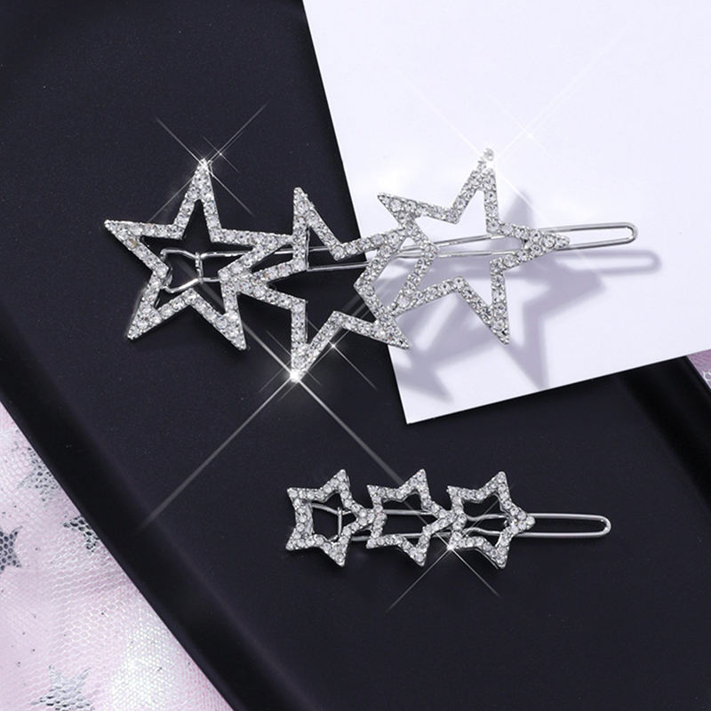 Alloy Star Hair Clip for Women Starfish Rhinestone Chinese Bobby Pin Hairpin