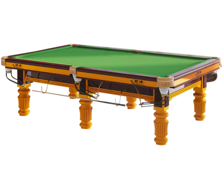 High quality solid wood slate golden carving full size snooker pool table 8ft 9ft billiard