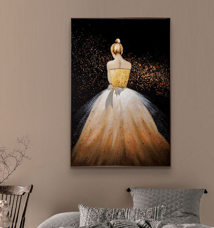 Relife Luxury Deco Home Decor Bedroom Decor 3d Girl Painting Original Handmade Pour Painting Sexy Girl Painting With Diamond