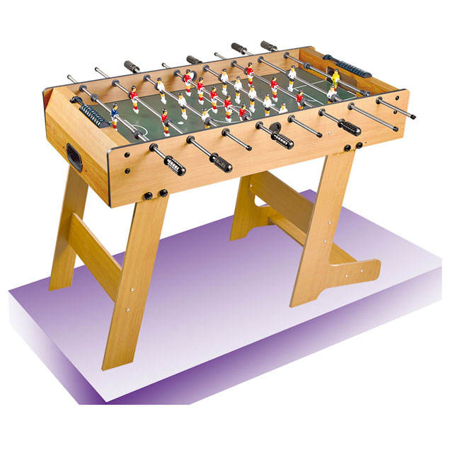 Top popular wooden soccer table football game manufacture indoor play kids toys