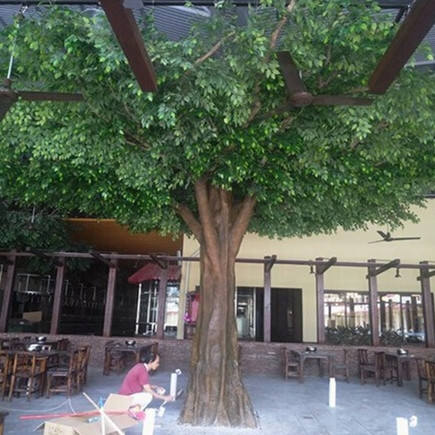 hot sale outdoor and indoor decorative artificial oak tree fiberglass artificial oak tree for garden