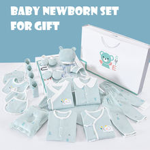 New item 100% cotton baby gift set newborn baby clothing gift set with cute pattern