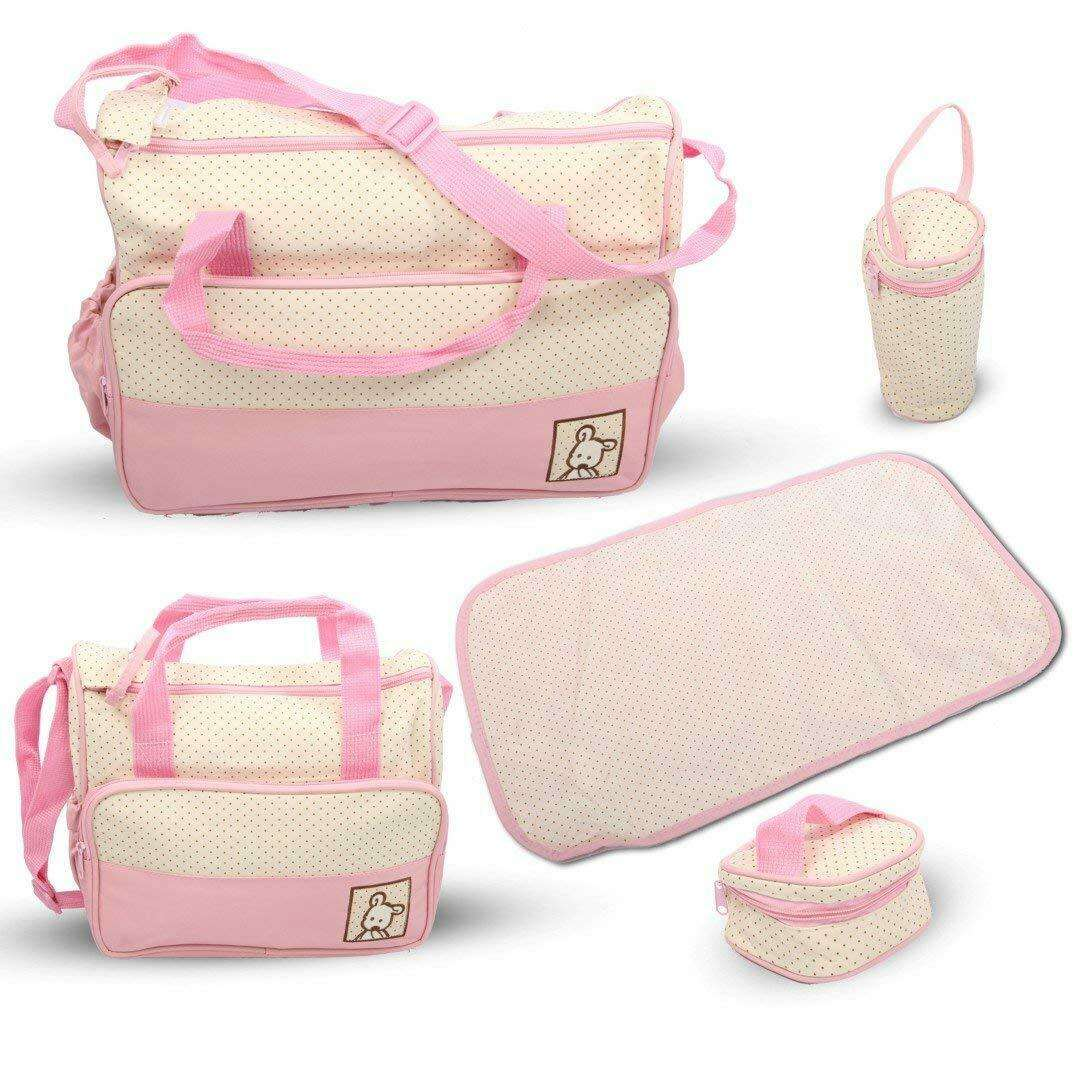 Born Baby Gift Nappy Changing Bag Set 5pcs Mummy Maternity Hospital Organiser with diaper pad