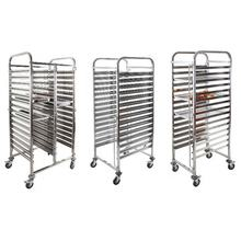Commercial Convection Pastry Trolley Cooling Rack for Rotary Oven with heat-resistant wheels