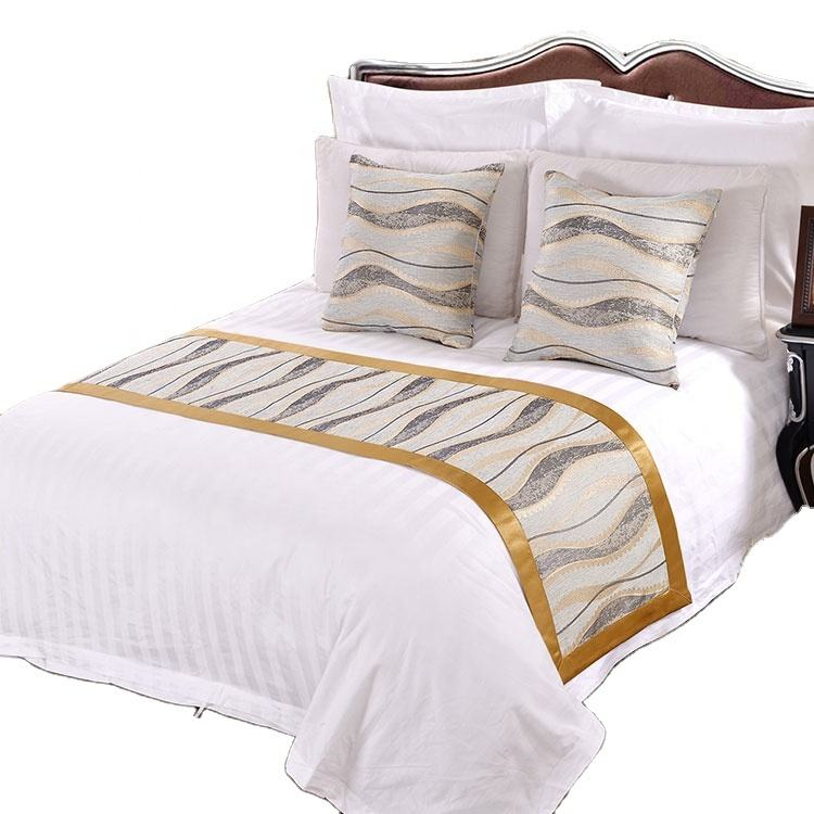 Wholesale Excellent Fabric King Size Queen Size Customized White Plain Hotel Linen Bed Sheet Sets