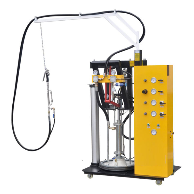 Two component sealant spreading machine with silicone or polysulfide