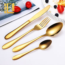 High Quality Cheap Silverware Flatware Restaurant Stainless Steel Gold Cutlery Set
