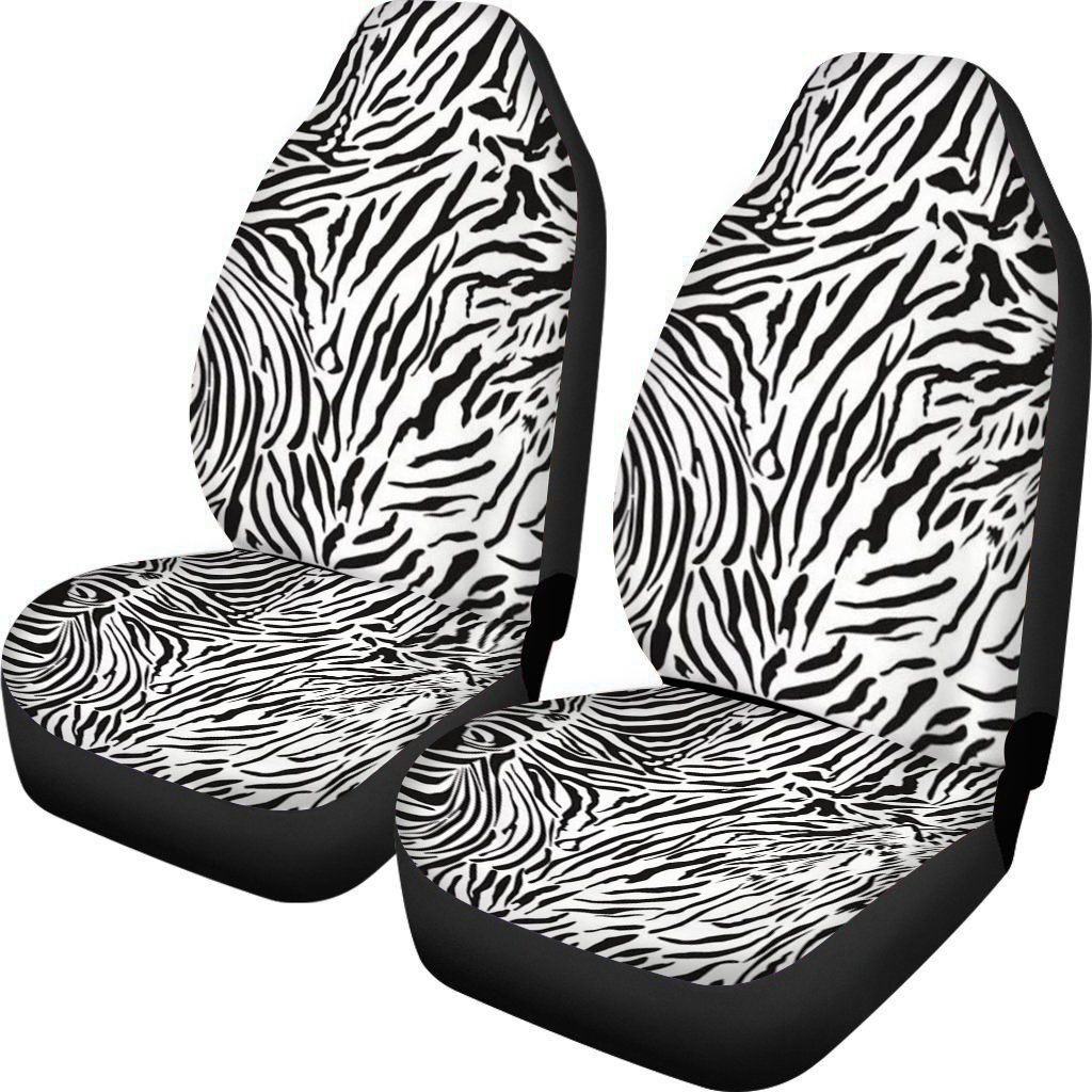 Well Fit Animal Deer Zebra Skin Stripe Printed 2Pcs Car Seat Covers 2Pcs Wholesale or Dropshipping Brown/Pink/White Colour