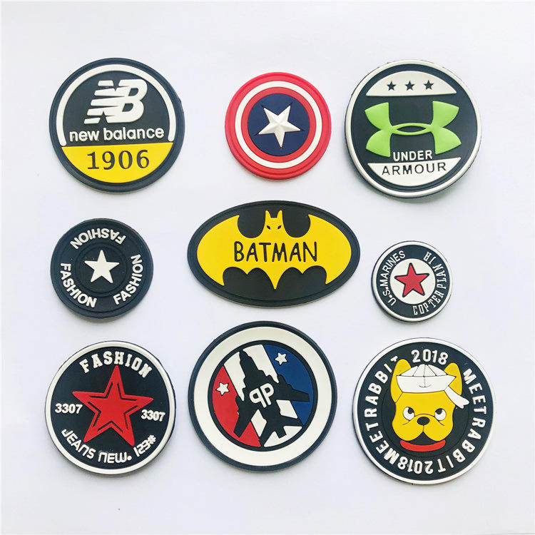 3d Rubber Patch 3D Logo Garment Soft PVC Rubber Patch Labels For Clothing