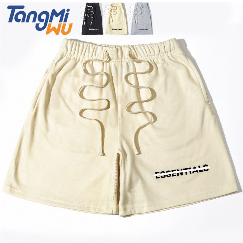 High Quality Luxury Brand Half Pants For Men Plain Cotton Sport Drawstring Sweat Shorts