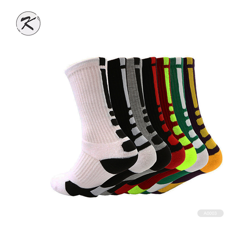 KH- B038 compression chaussettes de basket-ball de basket-ball de compression chaussettes élites en gros chaussettes de compression