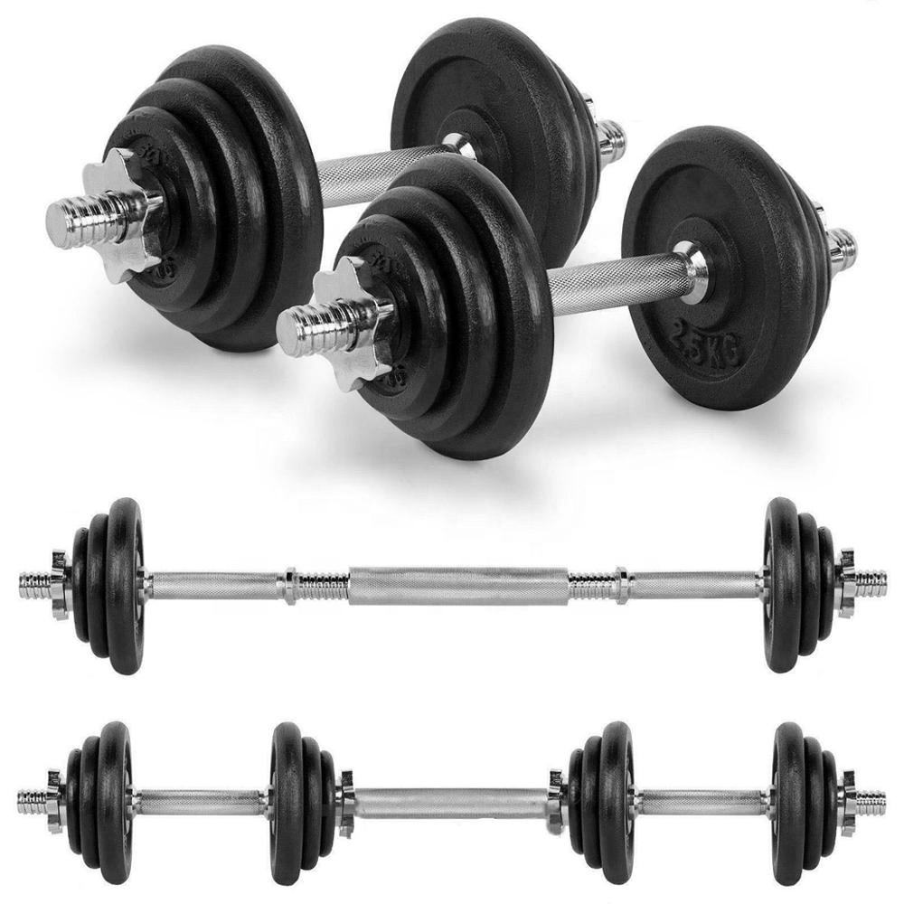 15kg 20kg 30kg 40kg 50kg Cast Iron Adjustable Dumbbell Weight Set Barbell Set for Weight Lifting