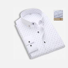 Men'S Pure Cotton White Color Business Shirt With Long Sleeve