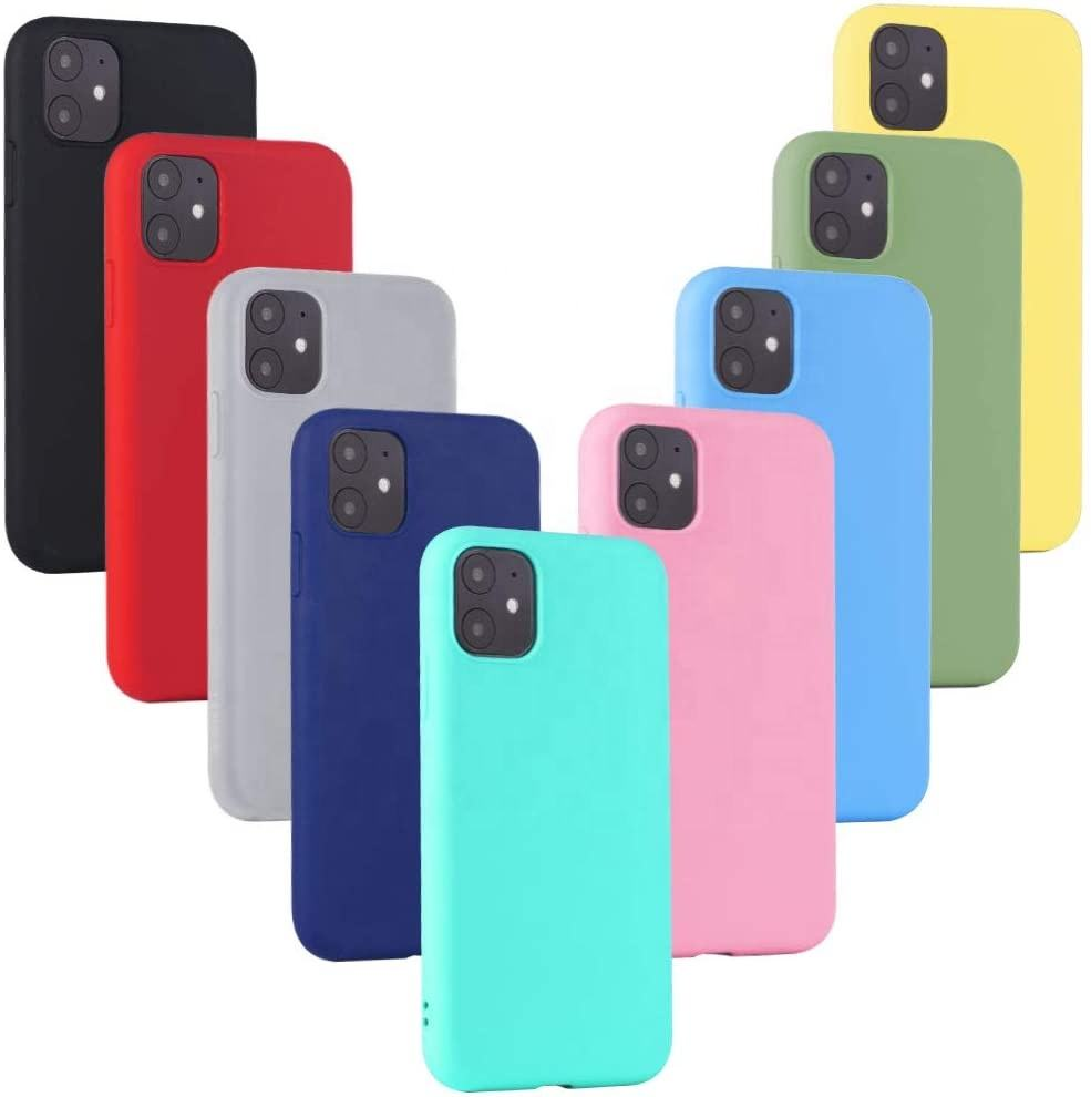 New Candy Colors Matte Shockproof Soft TPU Phone Case For iphone 12 Pro Max