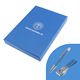 One-Stop Service Gift Use Set 2020 New Idea Customized Brand Logo Pen Keychain Box