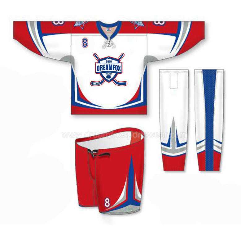 2019 großhandel günstige hockey jerseys team set sublimiert individuelle ice hockey trikots kinder blank reversible hockey trikots design