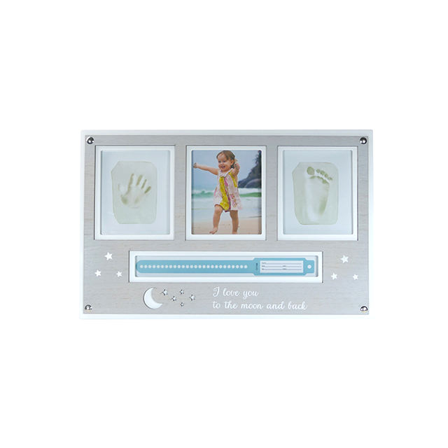 Newborn Baby Air Clay Frame Baby Handprint Footprint Keepsake Picture Photo Frame