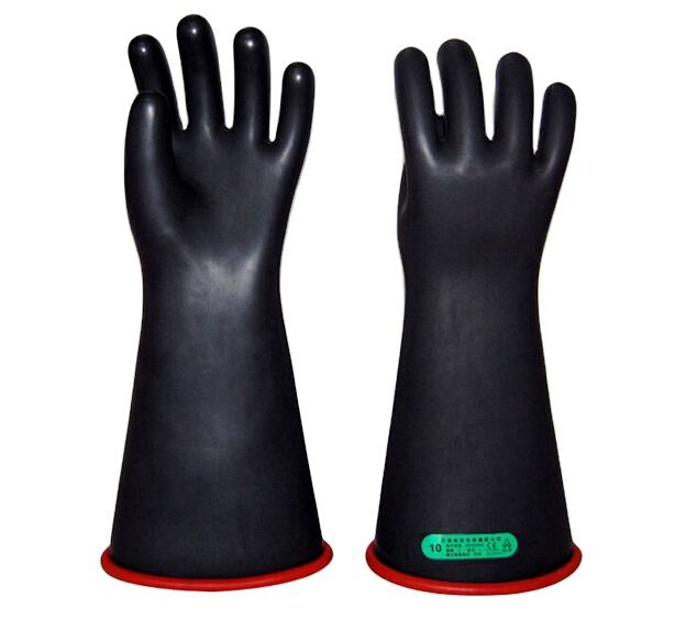 China manufacturing long sleeve insulating gloves 12kv high voltage antielectric