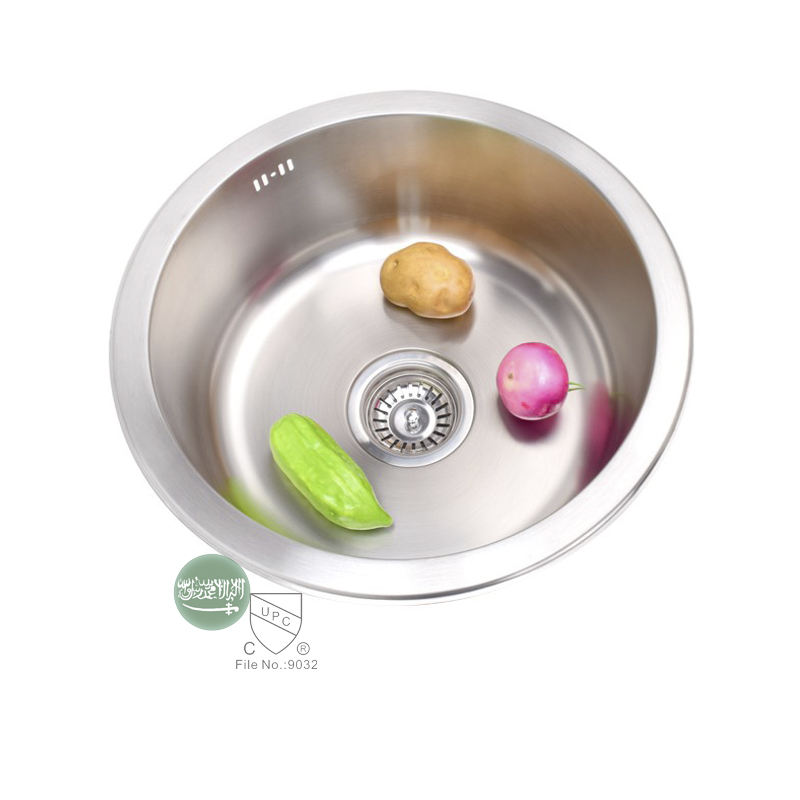 Middle East Series Hot Selling Stainless Steel Pressed Sink,430*178 Household Round Shape Single Bowl Kitchen Sin