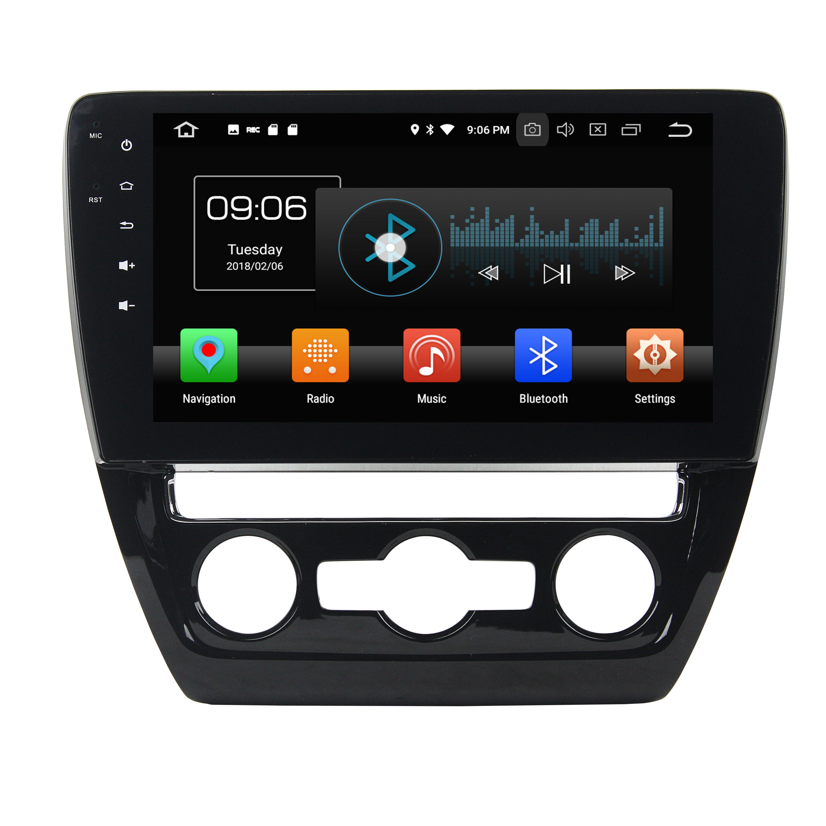 KD-1013 V W SAGITAR 2015-2016 Android 10.0 PX4 4 Core 2G 16G Multimedia Car Stereo Receiver and Double Din Digital Media