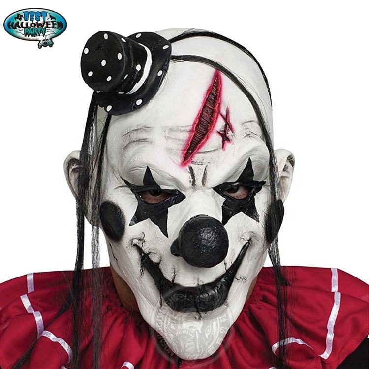 Terrorist Mask Creepy Scary Joker Clown Latex Halloween Mask for Costume Party Decoration
