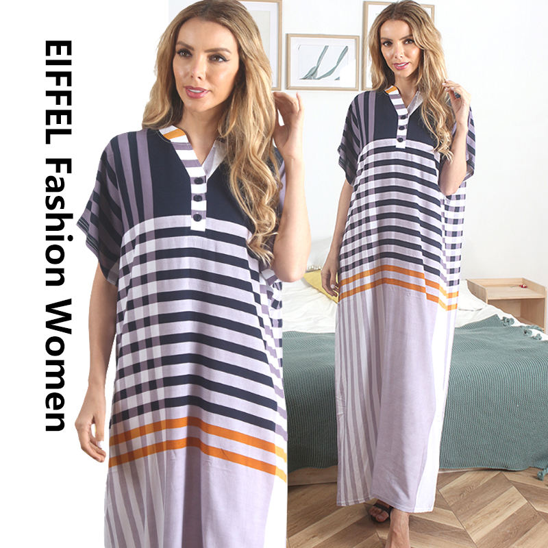 Middle East Modern Islamic Clothing Muslim Women Home wear Long Shirts Dress