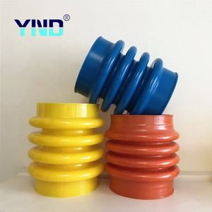 Flexible silicone rubber air suspension rammer bellow