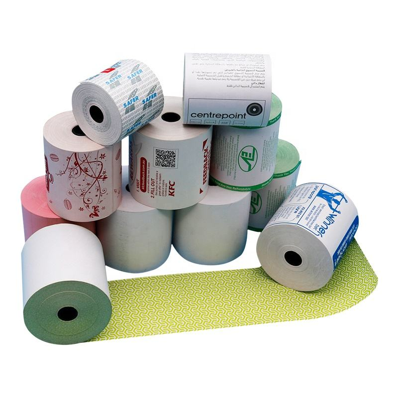 Fabrik 48/50/55/58/60/65gsm bis rolls 80x80mm ticket bargeld register papier BPA FREI thermische papier