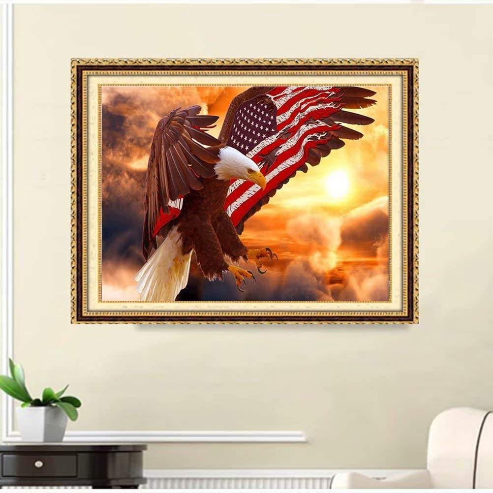 American Flag Eagle 5D Diamond Painting by Number Kits