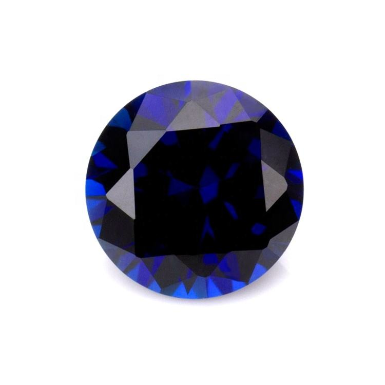 round shape corundum #34 round shape 3mm 5mm sapphire gemstone blue corundum Applied to jewelry