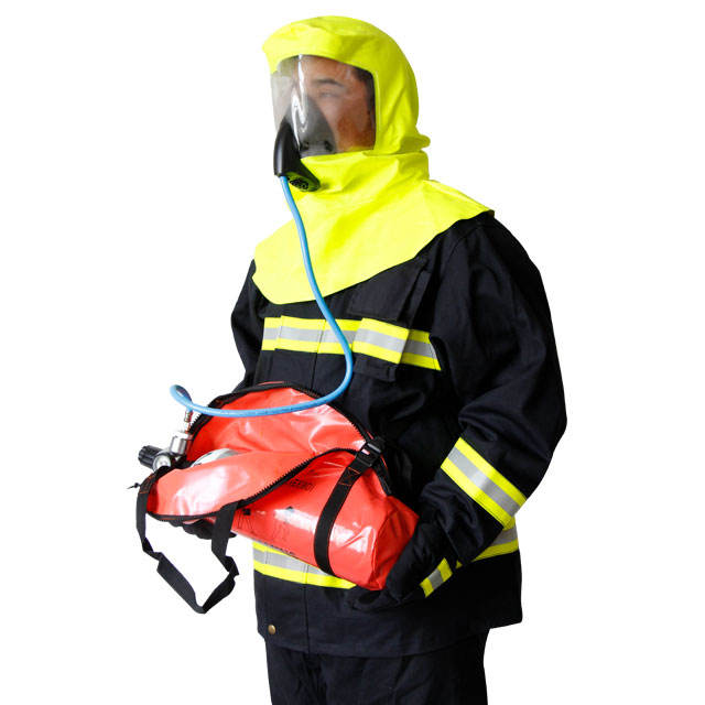 compressed air respirator EEBD emergency escape breathing device firefighting safety SCBA unit equipment