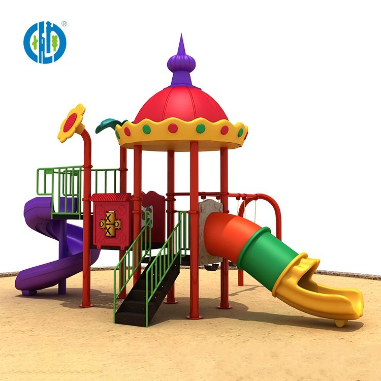 High quality interesting playground children's playground outdoor play area combined plastic slide outdoor