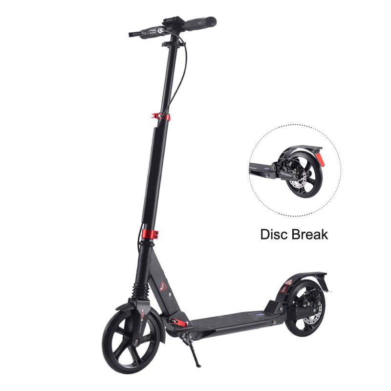 Adult folding kick scooter 2 wheel aluminum kick scooter with 200mm big wheel