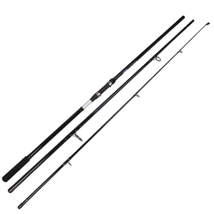 Solid fiber glass telecarp 3 sections telescopic carp rod 11ft 12ft travel fishing carp rods