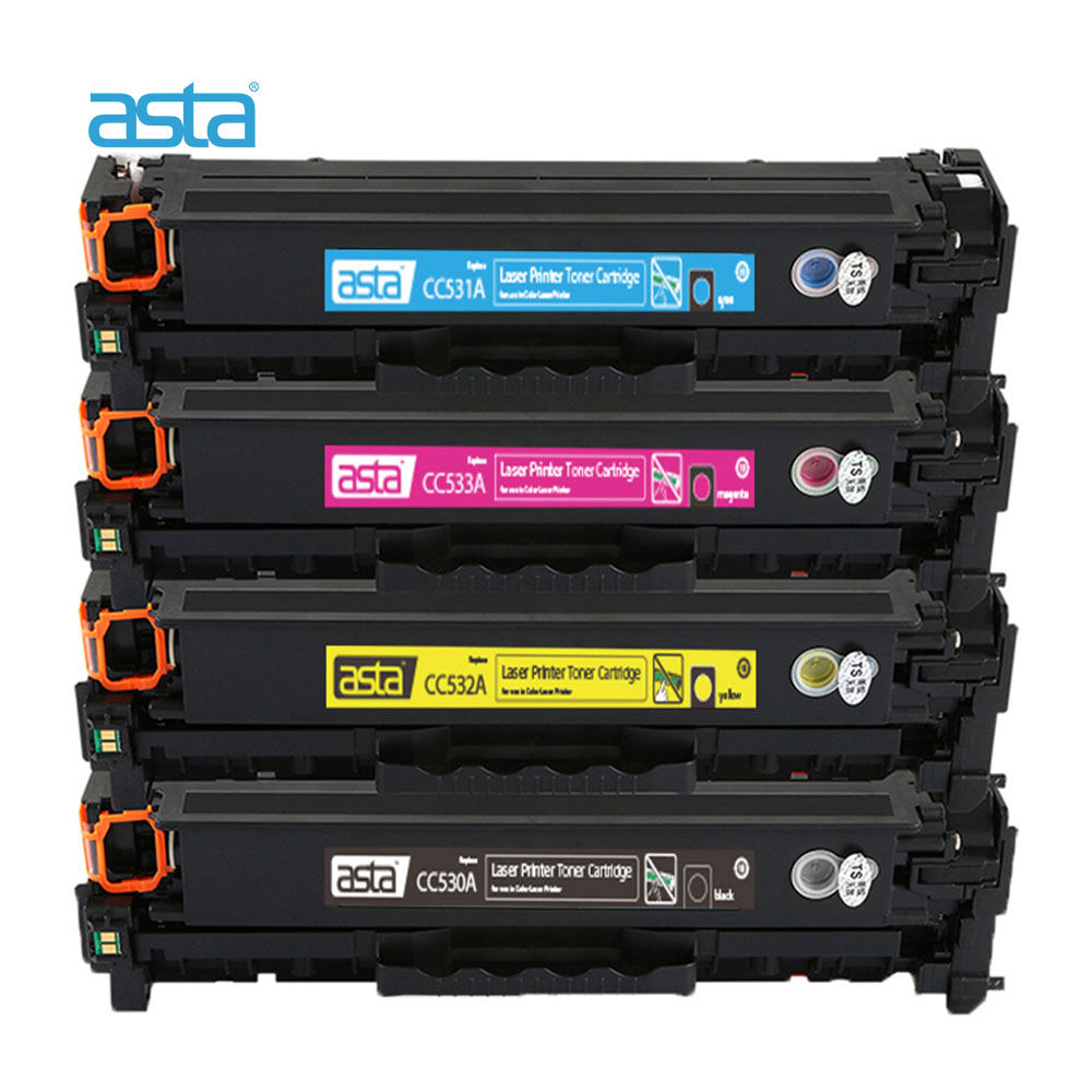 with Chips Black Blue Magenta Yellow-Combination Compatible Toner Cartridges for 304A CC530A CC531A CC532A CC533A Replacement for HP Color Laserjet CP2020 2024 2025 2026 2027 CM2320 MFP Printer