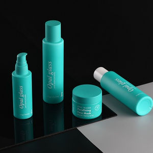 Customized recycled opal glass cosmetic bottle with coating for skin care packaging