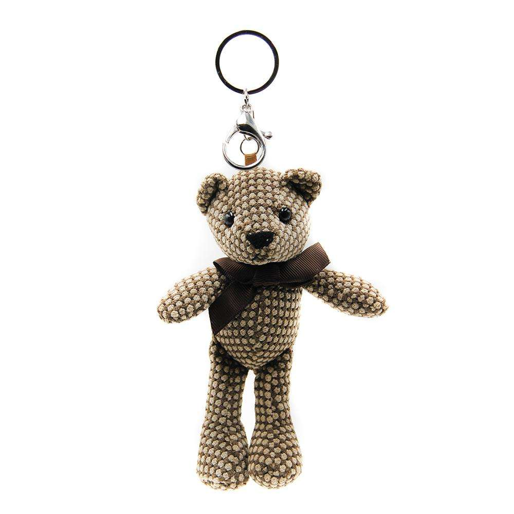 Custom handmade design kid's clothes plush key chain wool felt stuffed animals