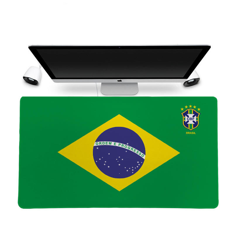 The national flag of Brazil design new lock edge smooth feel custom rubber mouse pad