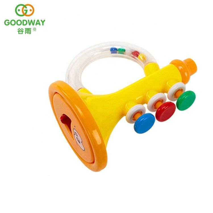 Educational Baby Music Instrument Trumpet Toy Plastic Rattle