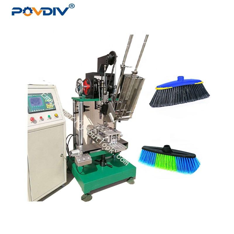 hot sales 2 axis high speed broom brush tufting making machine