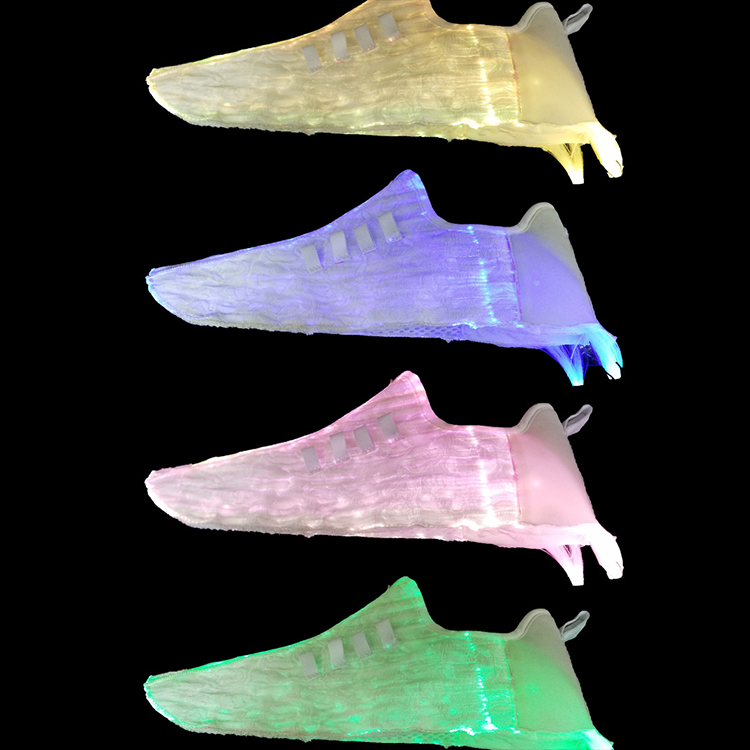 2020 wenyu shoe light of fibre-optical light decoration for shoe Sole light up 3d EVA for backpack clothing accessories