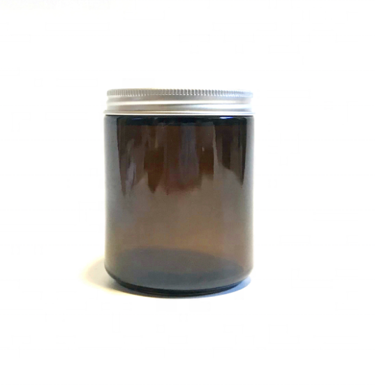9oz 270ml amber glass jar with aluminum cap,candle glass jar with lid,9oz straight sided glass jars with metal lid