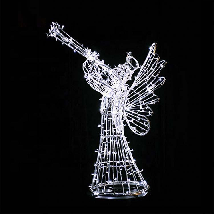 Wholesale Custom Cheap Led Christmas Decoration Angel Motif Street Light Alibaba Supplier with High Quality