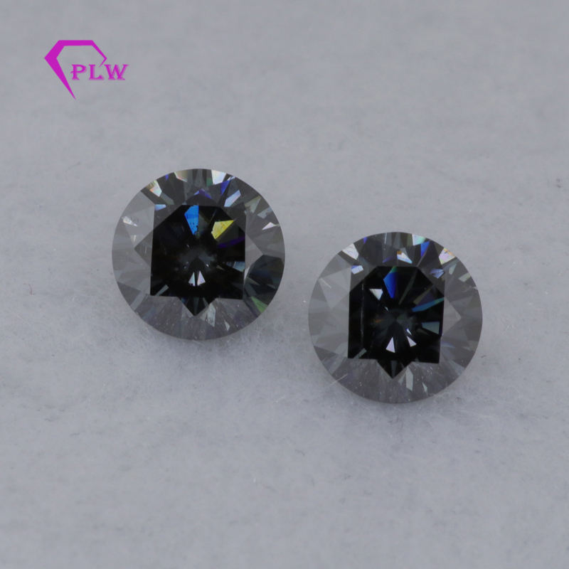 Cut Gray Black Synthetic Moissanite Diamond Provence Gems