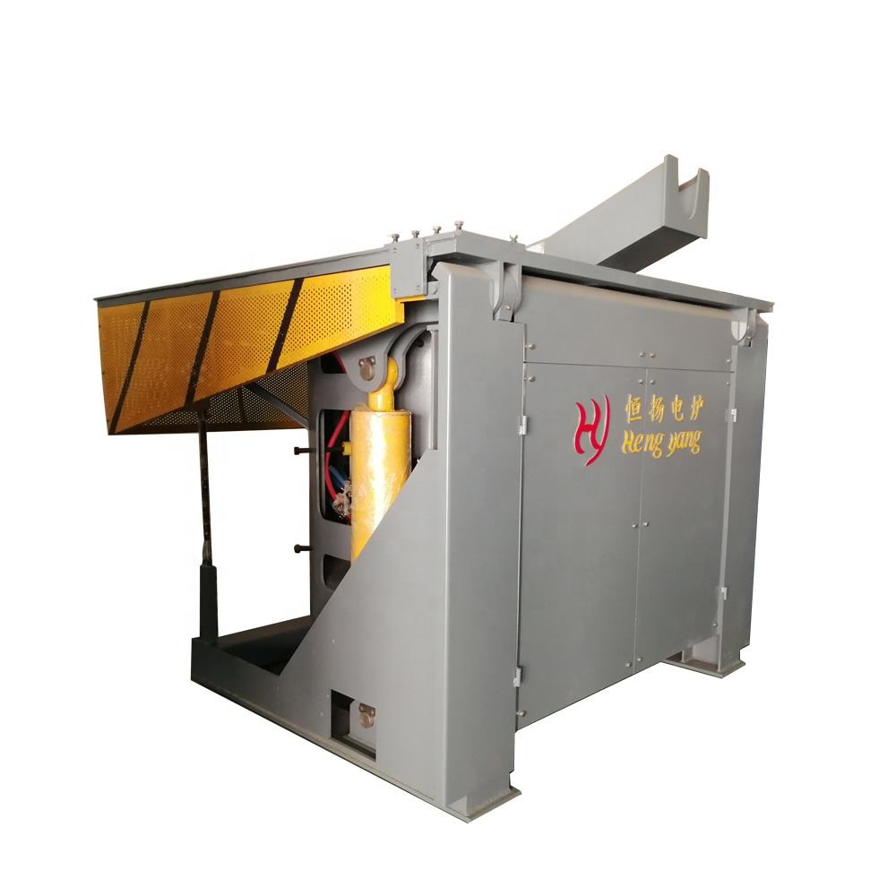 5000kg steel shell industrial electric cast iron induction melting furnace for foundry metal casting