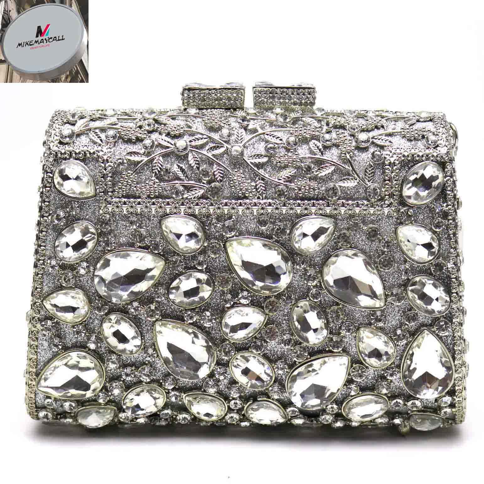 India Wholesale Glitter Clutch Bag Beaded Peacock Women Clutch Purse