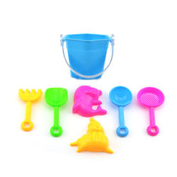 LDD686 Fun Summer Mold Sand Buckets Educational Toys Beach Bucket Toys For Boys And Girls
